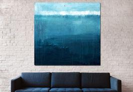 RESERVIERT bis Dienstag - blaues großes Bild 170 x 170 cm
