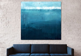 blaues großes Bild 170 x 170 cm