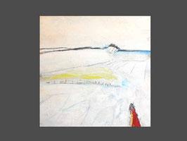 80 x 80 cm - Betrachtung aus der Ferne - weißes Bild