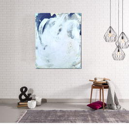Schwarz weißes Bild 120 x 100 cm