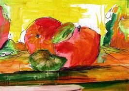 abstraktes Apfelbild 120 x 100 cm
