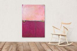 Rosa rotes Gemälde