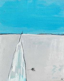 Landschaftsbild - Kanalkutter - 50 x 40 cm