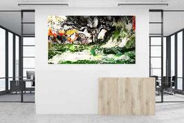 Abstrakte Malerei - Machtkämpfe 200 x 100 cm