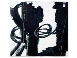 s/w schwarz weiss 100 x 80 cm STATEMENT