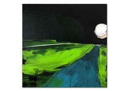 Abstraktes grünes Bild auf 80 x 80 cm