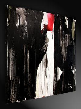 schwarz weiss Bild 80 x 80 cm