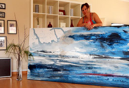 Abstraktes Gemälde in xxl MALEN LASSEN