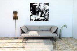 s/w Bild Fusion 3 - 60 x 60 cm