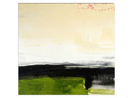grünes abstraktes Kunstwerk 100 x 80 cm