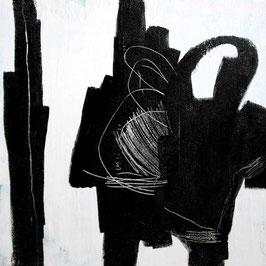 s/w Bild - Gepsrächsrunde - 70 x 70 cm