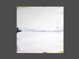 80 x 80 cm - Klarheit 1 - s/w schwarz weiss