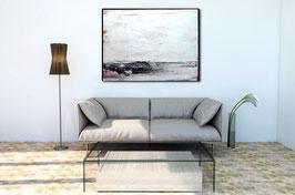 Gemälde in schwarz weiß - Mit offenen Armen