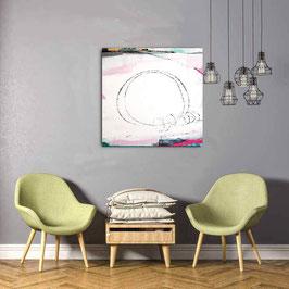 Seilspringen - weisses Bild 80 x 80 cm