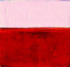 Rosa Rotes Bild 70 x 70 cm