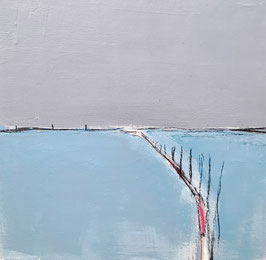 blau graues Bild 60 x 60 cm