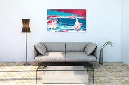 Bild mit Surfern - abstrakt