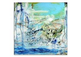 Abstraktes Stierbild auf 130 x 90 cm