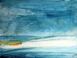 Gedankenrückzug - blaues Bild 100 x 80 cm