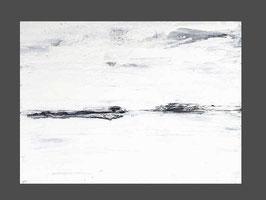 weißes Gemälde - 100 x 90 cm