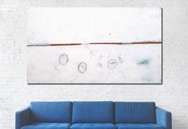 xxl Bild 220 x 130 cm weiss