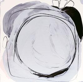 60 x 60 - Kaltes Eisblau Weiss