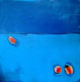 blaues Bild - 60 x 60 cm