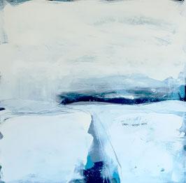 Winterlandschaft 3.0 - weisses Gemälde
