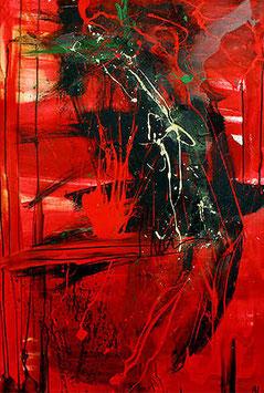 Liebesnacht - 110 x 75 cm - rot