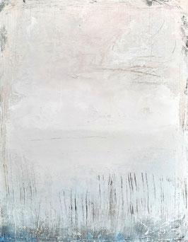 Weisses Strukturbild 100 x 80 cm