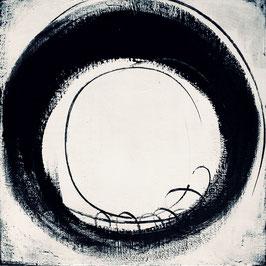 schwarz weiß - Der nächste Schritt 80 x 80 cm