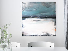 Blaues Gemälde - 100 x 100 cm HAFENDORF