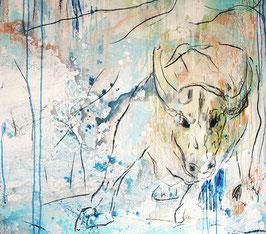 Stier gemalt - Titel: sugar baby