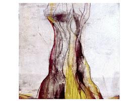 Weißes Bild auf 100 x 160 cm