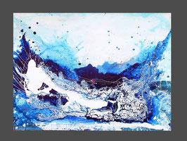 blaues Bild  - Libellenflug