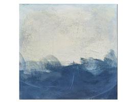 Blaues Bild auf 100 x 100 cm