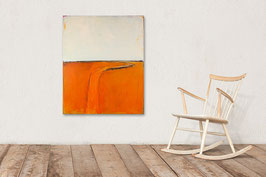 100 x 80 cm  orange beige