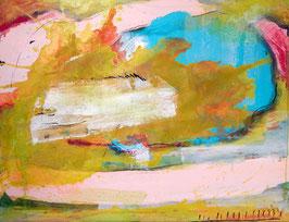 Landschaftsbild 100 x 80 cm  pastell