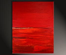 rotes Bild -  abstraktes gemälde Ernte nr. 5