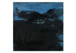 blaues Gemälde auf 100 x 80 cm
