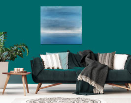 Meditatives ruhiges Bild 100 x 100 cm