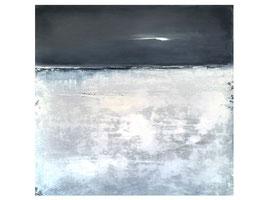 Grau weisses Bild auf 100 x 100 cm