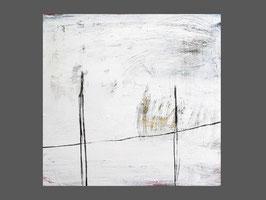 Weisses Bild - 80 x 80 cm - Aufeinander zugehen