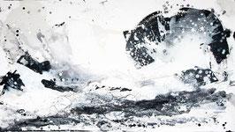 """Gemälde in schwarz weiß malen lassen ähnlich """"Gedankenwirbel"""" als Auftrag"""