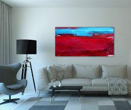 rotes Bild - 150 x 80 cm - Landschaft