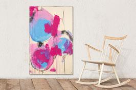 110 x 70 cm - Bild beige pink