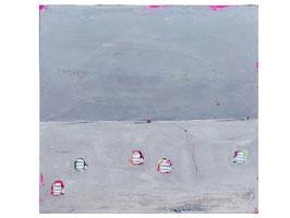 Abstraktes Bild  auf 120 x 120 cm