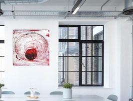 Yogatanz - 80 x 80 cm - weiss und rot