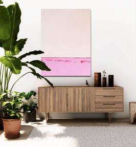 Rosa Pinkes Bild - 160 x 100 cm