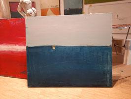 blaues Bild 100 x 80 cm
